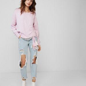 Express Sweaters - Express light pink sweater